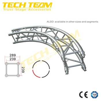 Circle Curved Roof Lighting Truss ,Aluminum Truss Decorative Truss Sale To Europe