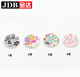 colorful big size coat wooden button for garment
