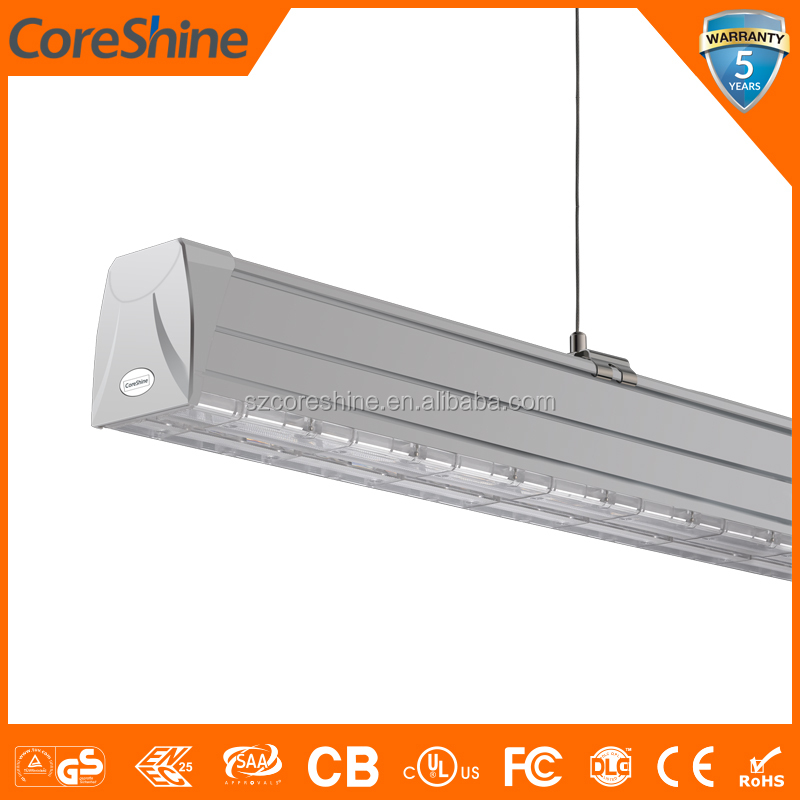 IP20/IP54 40W 65W linear led pendant light fixture for shop store and supermarket
