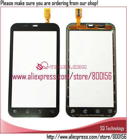 Spare Parts black Touch Screem Digitizer for motorola mb525 defy