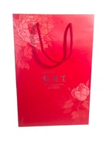custom printed scarf paper bag with spot UV and rope handle