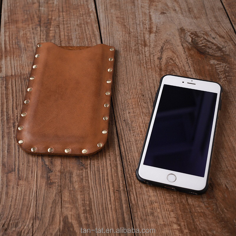 Cowhides Leather Cellphone Cover Mobile Case