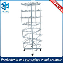 Metal rolling revolving keychain display rack shelves, keychain display stand