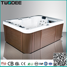 3 person freestanding rectangular acrylic balboa system air jet massage outdoor spa hot tub