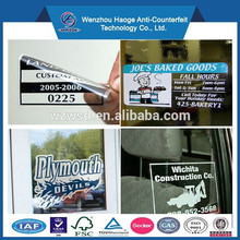 customized design static cling sticker in good quality