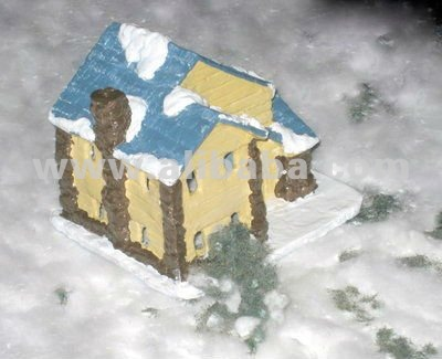 Resin Christmas Village Cottage