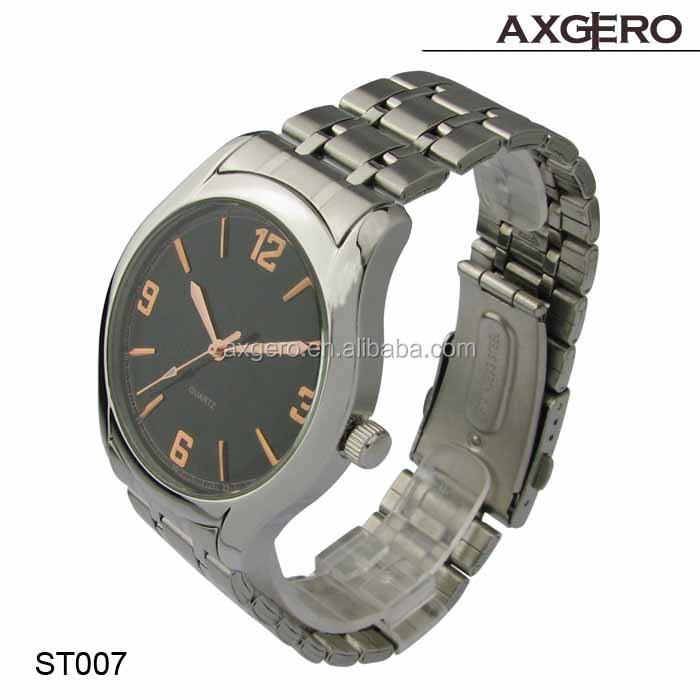 Nice quality quartz movt waterproof fashion model shiny stainless steel watches