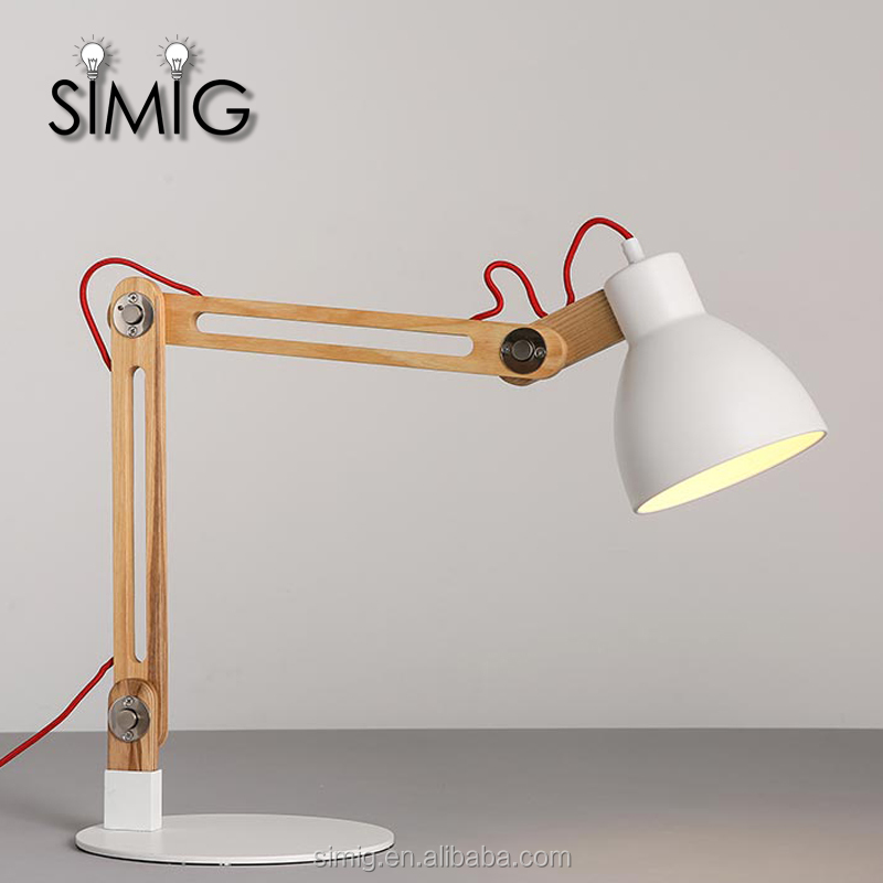 E27 Folding arm working table lamp for home lighting