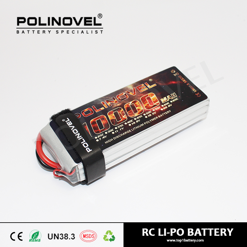 True capacity great power 22.2V 25C 6s lipo battery 10000mah for rc models aircraft quadcopter drone UAV