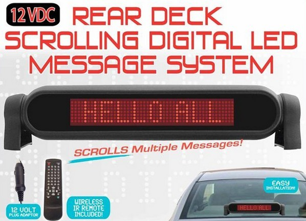 7*50 dot-matrix Programmable flexible led sign y ed car rear window digital display