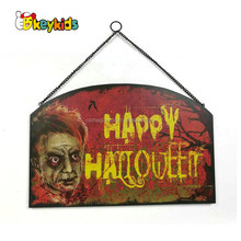 Wholesale top entertaining wooden halloween wall decoration for holiday use W09D051