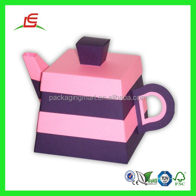 Q991 Custom Teapot Shaped Paper Craft Box Wholesale In China