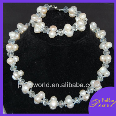 10mm baroque A+ pearl jewellery set