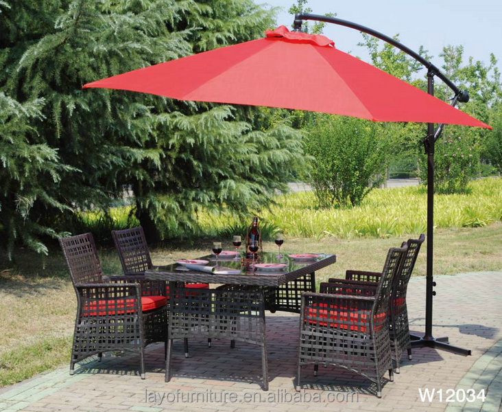 outdoor dining table and chair rattan garden table set New Trendy Cane rattan Sofa Set
