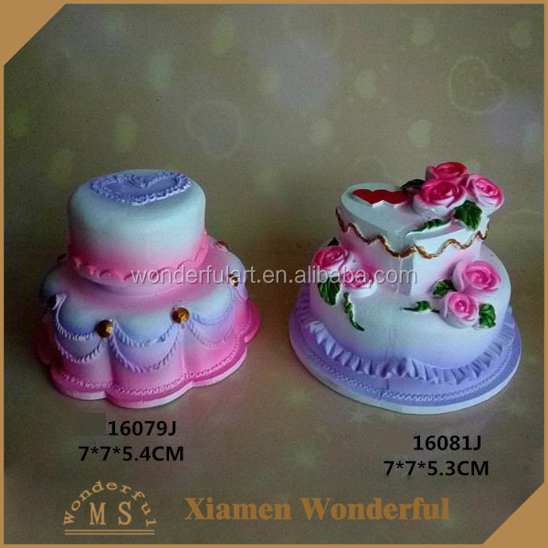 wholesale cute polyresin artificial birthday cake