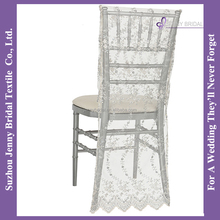 C037Z wedding fabric decorative lace chair hoods cheap church chairs cover