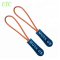 Hot sale embossed logo cord rubber injection zipper pull/puller