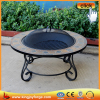With different pattern middle lid outdoor stone mosaic table fire pit