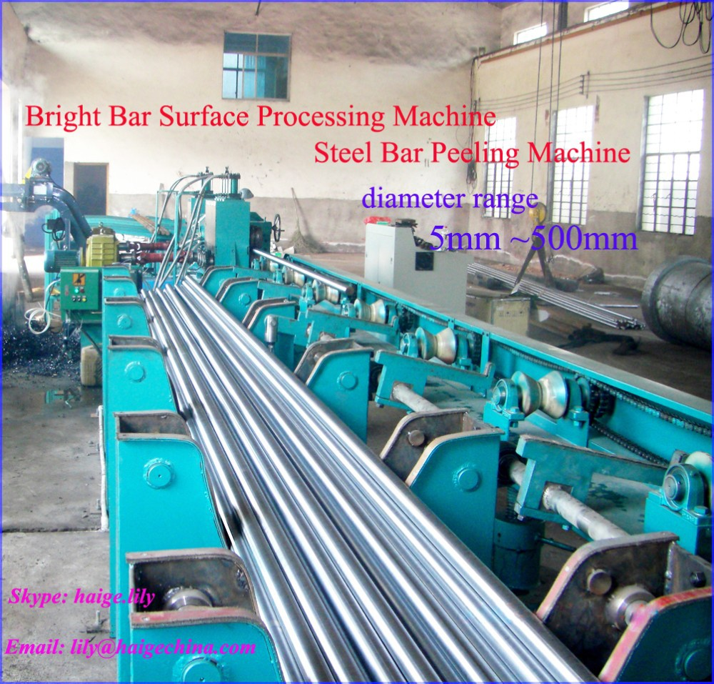 most popular automatic steel round bar surface peeling finishing line machine