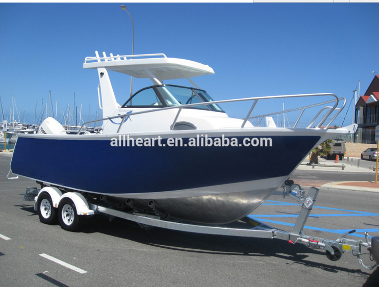 China Builder 6.25M Center Cabin Aluminum Boat with Hardtop