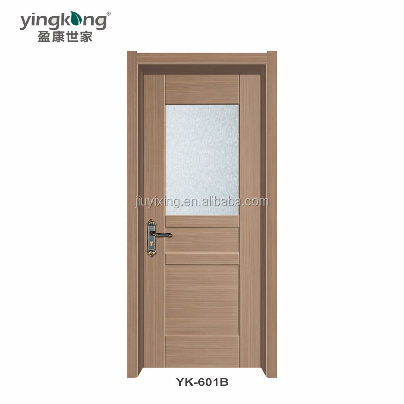 PVC Bath Room Door Interior Wooden Door YK-601B Made From 15 Years Factory