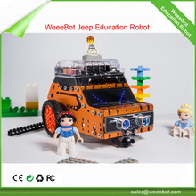Newest Intelligent education robot child toy DIY die cast remote controlled toy car