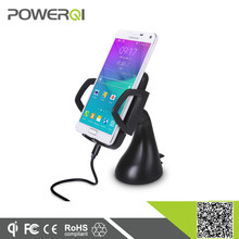 Qi certified window suction & air vent suction wireless car charger for iphone 5