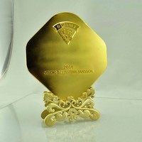 golden color for sport series metal plate