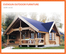 Wholesale price ESW-14132 Double storey wooden villa prefabricated residential houses