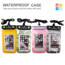 Hot Selling Product Folded mouth waterproof cell phone case with earphone