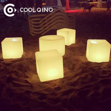Size 40*40*40 Manufacture Magic RGB Color Changing And Patent Battery Waterproof LED Light Display Cube