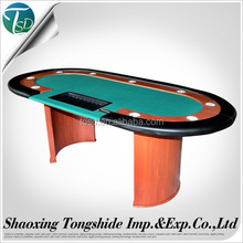 "84"" casino deluxe roulette poker table with with wood legs"