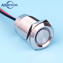 High quality 19mm stainless steel wire <strong>lead</strong> 12V led illuminated dimming switch