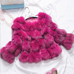 Factory directly wholesale price silver fox head fur long sleeve jacket/fox fur jacket/sliver fox fur jacket