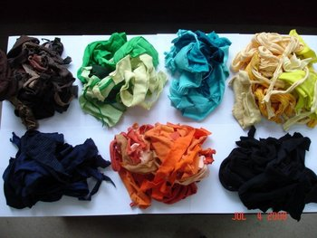 Cotton Hosiery clips colours