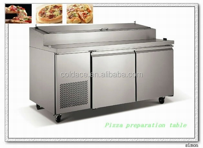 Professional Stainless Steel Pizza Prep Table Counter
