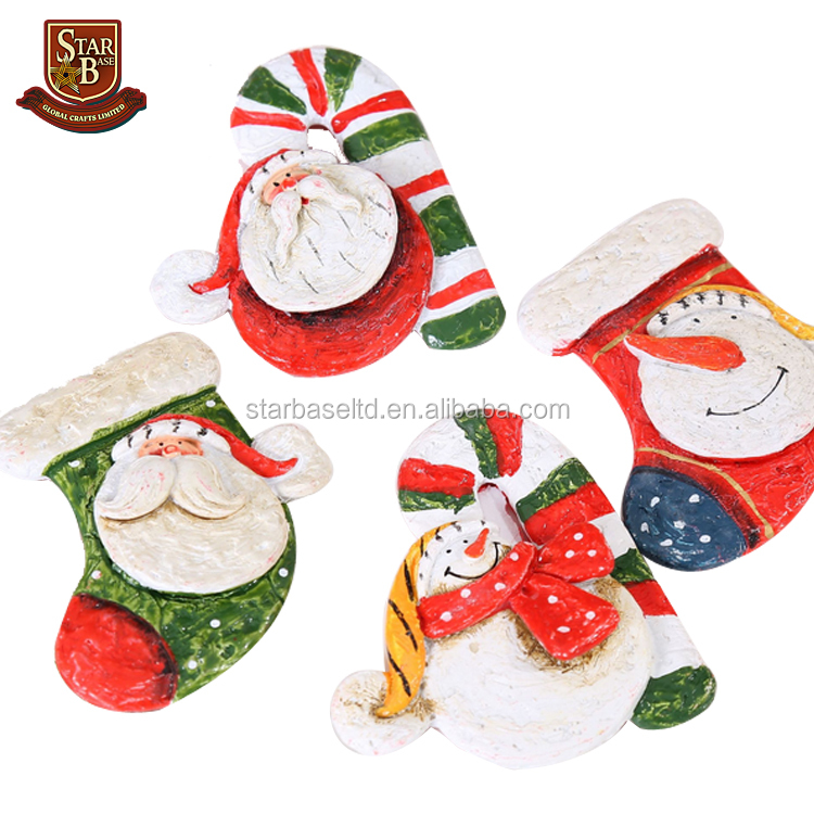 New Creative Christmas decorations resin handicraft Santa Claus cute 3d fridge magnets