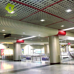 Metal Decoration Material Suspended open cell ceiling for Station