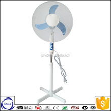 Guangzhou factory 110v/220v 45w copper motor floor fan with cross base