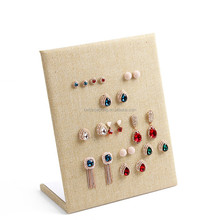 cheap price textile fabric jewelry earring display stand cover MDF
