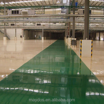Self leveling acid resistant epoxy paint anti slip flooring coating
