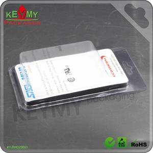 clear PET blister clamshell packaging electronics clamshell manufacturer