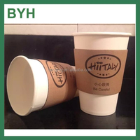 8oz-16oz paper coffee cup sleeve custom cardboard coffee cup sleeves 12oz paper coffee cups and sleeves