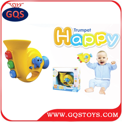 Intelligent Toy Plastic Mini Musical Cartoon Trumpet For Baby