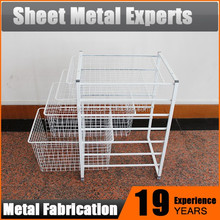 High quality Coated wire/mesh storage basket Shelf Cabinet