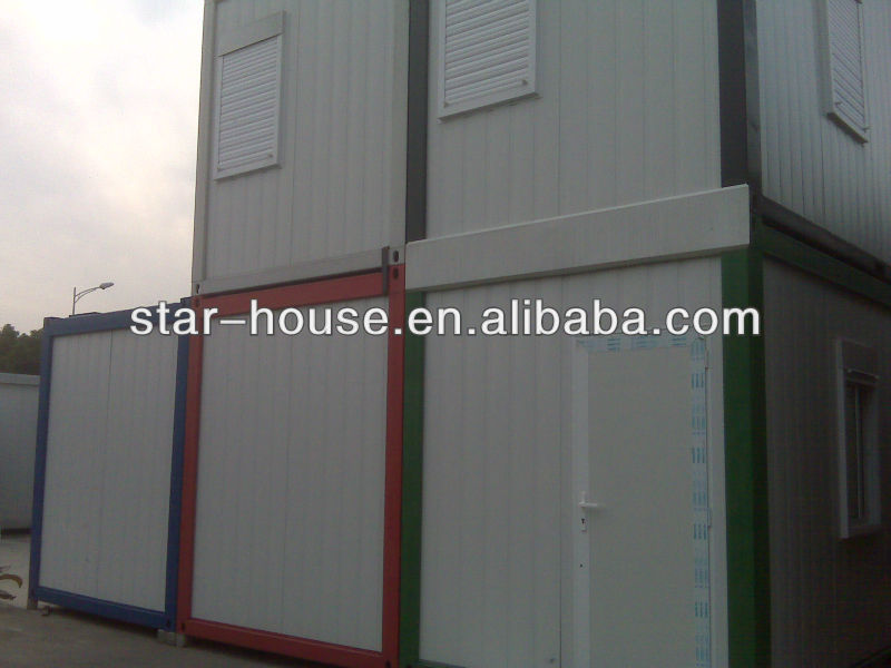 Two storeys combined economic prefab shipping container house
