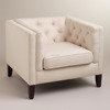 Luxury Style Fabric Single Sofa Chair