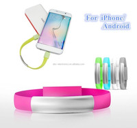 Silicone armband usb charger bracelet usb flash drive charging cables