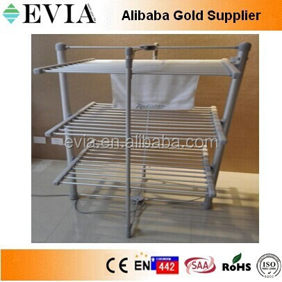 Folding electric heated clothes airer dryer