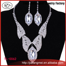 2015 Hot Selling China OEM Beautiful Fashion Jewelry Set, Latest New Design Necklace Earrings Set